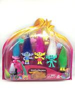 5pcs Trolls DreamWorks Movie Poppy Branch Harper Figure Doll PVC Kids Toys