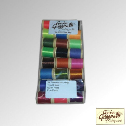 F Gordon Griffiths Floss x 24 Spools Mixed Colours