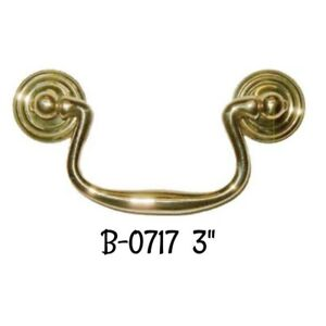 Victorian Style Stamped Brass Bail Pull Antique Furniture Vintage Style Old