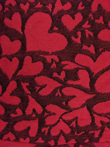 F/&F Girls Dark Pink//black Heart Pattern Jersey Dress Ages 6 8 9 10 11 NEW SALE!