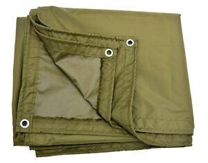 Dutch-Army-190x290cm-Basha-Sheet-Shelter-Waterproof-Tarp-Ground-Cover-Olive