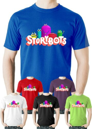 Storybots Logo T-Shirt All Sizes Kids Educational Learning TV Programme Tee Top