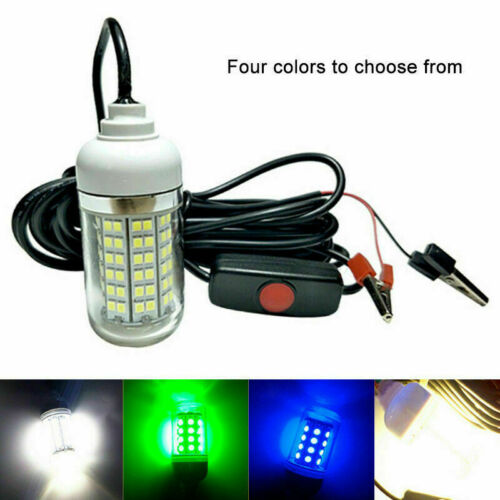 Underwater Night Fishing Light Outdoor Waterproof Lamp with Cable for Pool Boat