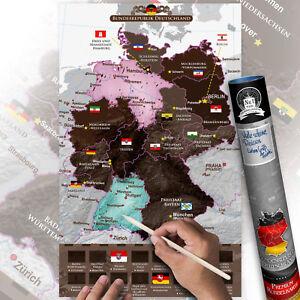 rubbel landkarte deutschland Rubbelkarte Landkarten Deutschland Politisch Rubbel Karte klein