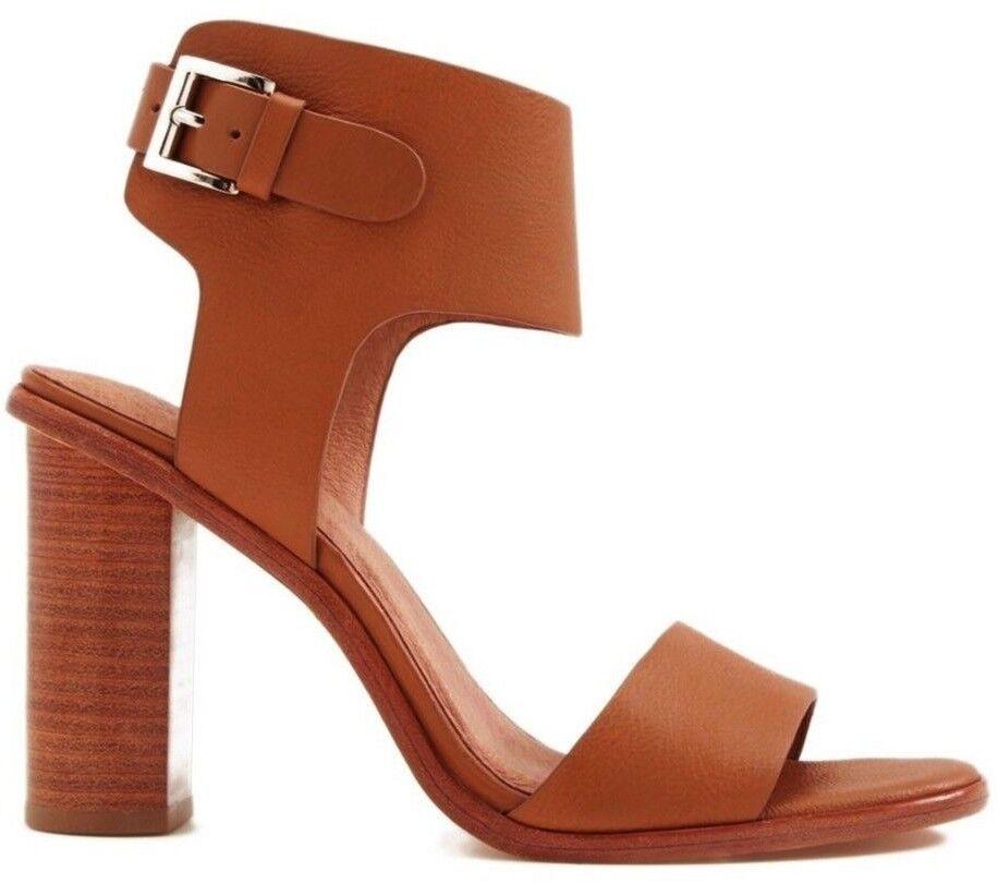 NIB Joie Women's Opal Leather Ankle Strap High Heel Sandals Size 39.5; US 9.5