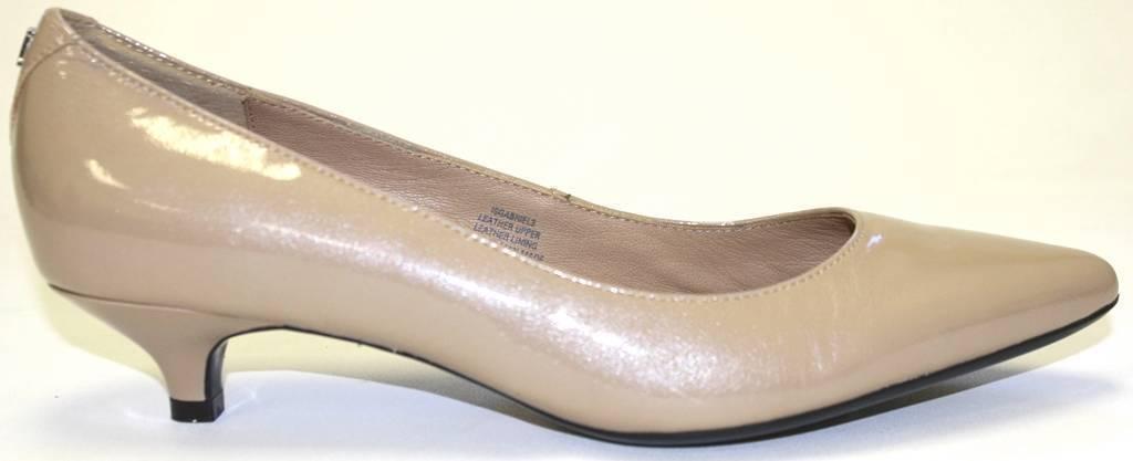 Women's Shoes Isaac Mizrahi GABRIELA 3 Dress Pump Kitten Heel Patent Natural