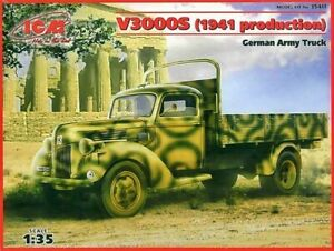 ICM Models V3000S German Army Truck Building Kit