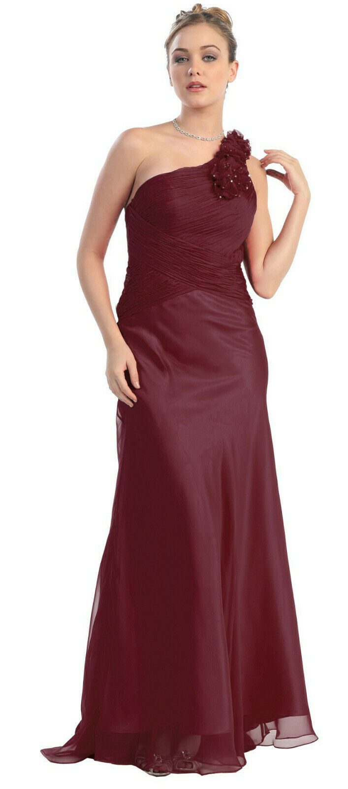 Abendkleid Abi-Ballkleid Brautjungfernkleid Brautmutterkleid Vintage Boho Gr 44