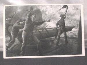 Postkarte-AK-Soldaten-Marine-auf-See-U-Boot-Kanone-1916-antik-Kaiserzeit