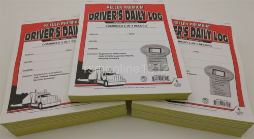 Lot of 25 JJ Keller 8550 605L 2-In-1 Driver/'s Daily Log Book w// Detailed DVIR