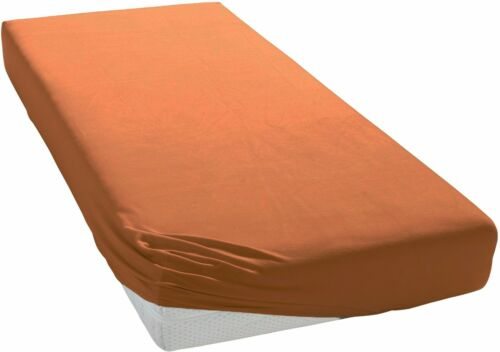 Premium Bettlaken Spannbettuch lila-mauve natur-creme terra-orange Baumwolle