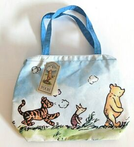 Vintage-Winnie-the-Pooh-Canvas-Tote-Bag-Disney-Classic-Pooh-New-With-Tags
