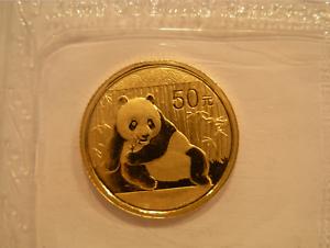 China 2015 Gold 1/10 oz Panda 50 Yuan Original Mint Sealed BU