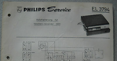 Herzhaft Philips El3794 Service Blatt Stand 09/64 Autohalterung Für El3300 Anleitungen & Schaltbilder