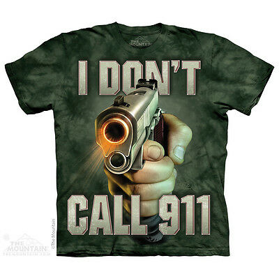 Call 911 T-Shirt by The Mountain. Life Outdoor Sizes S-5XL NEW