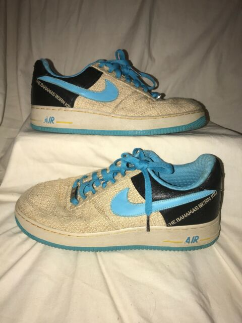 wholesale sales clearance prices shades of Nike Air Force 1 PRM 07 Low Thompson Tweed Blue Brown Bahamas Born Kid Sz 12