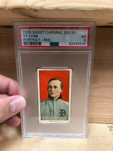 Ty-Cobb-1909-11-T206-RED-PORTRAIT-Sweet-Caporal-PSA-3-VG