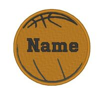 Custom Embroidered Basketball Ball Sport Team Sew On Round Patch - All Size
