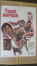 Tiger Napada Original Yugoslavian Movie Poster Chen Sing, Chan Wei Man, Chang...