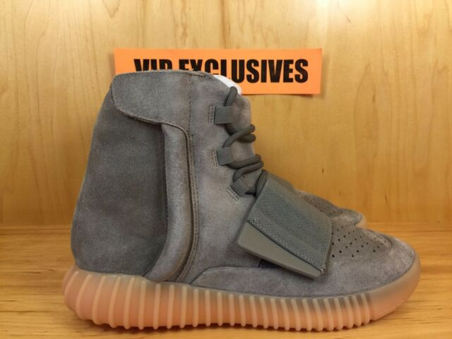 a45d3ad5b4d Adidas Yeezy 750 Boost Kanye West Light Grey Gum Glow In The Dark Suede  BB1840
