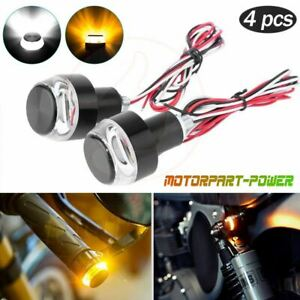 1 Pair LED Bicycle End Plug Turn Signal Lights Bike Handlebar End Cap Blinker