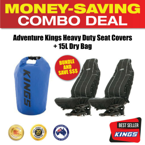 Adventure Kings Heavy Duty Seat Covers + 15L Dry Bag