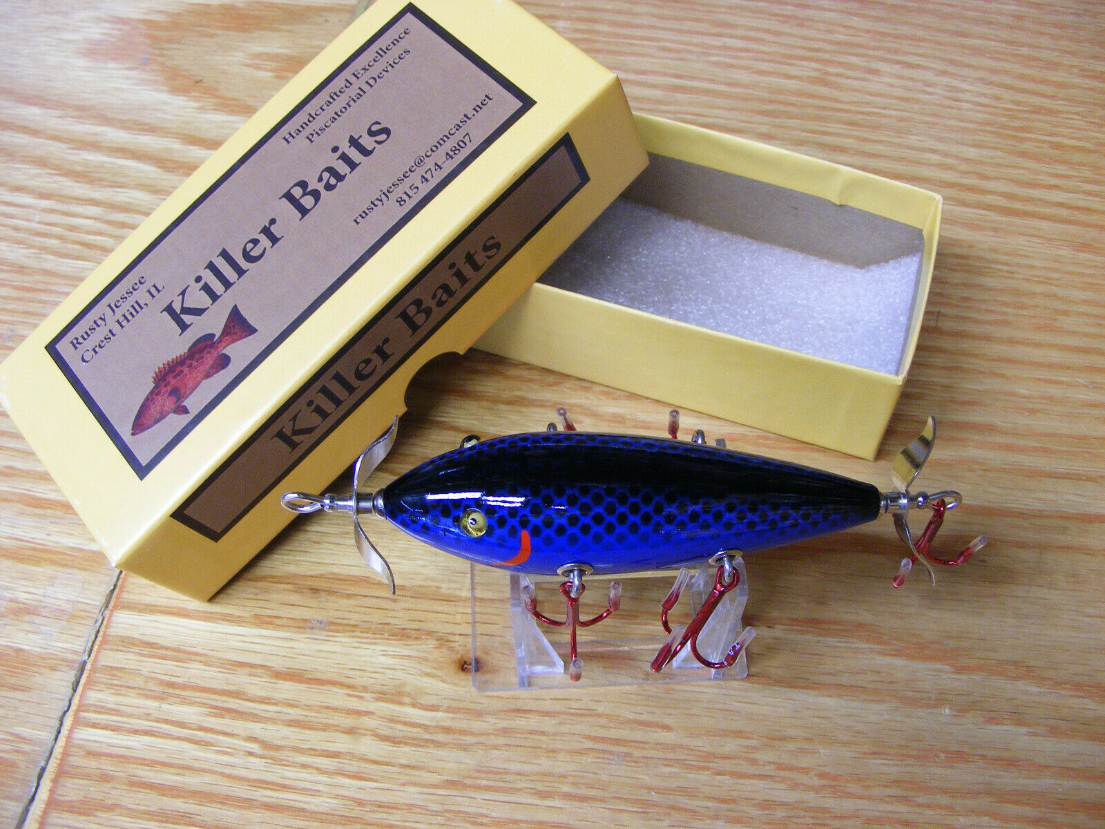 Killer Baits  Rusty Jessee Heddon 300 Style Glasseye 5 Hooker in 070 color  great selection & quick delivery