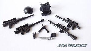 BrickArms Sniper Waffenset, Custom Waffen für LEGO® Figuren