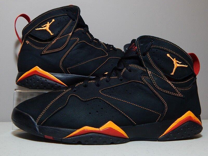 Nike shoes - 2006 Jordan 7 VII Citrus - orange Varsity Red Black Suede - Size 14