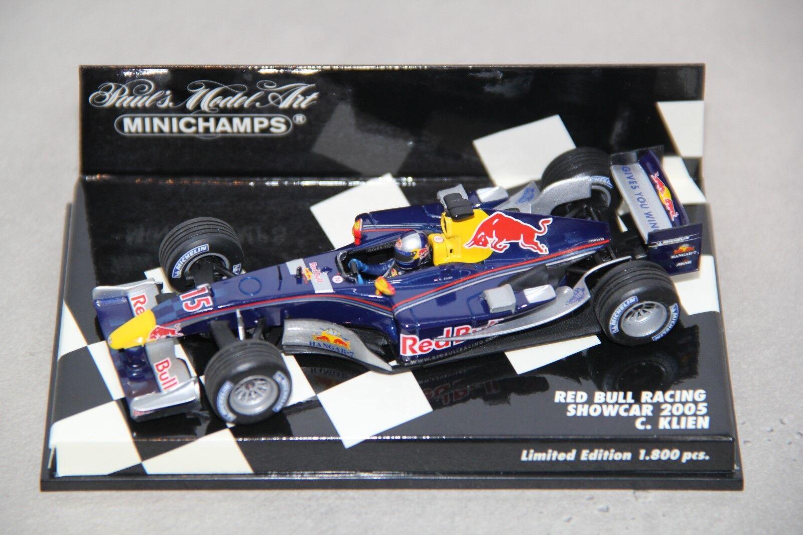 Minichamps 1 43 rot Bull Showcar 2005 C. Klien Formel 1 rb1
