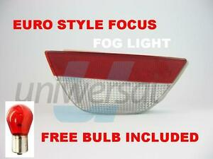 FORD-FOCUS-MK1-1998-2004-MK2-2004-2008-CLEAR-REAR-BUMPER-FOG-LIGHT-EURO-STYLE