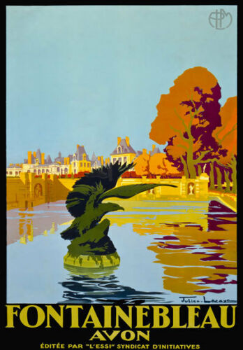TU78 Vintage Fontainebleau France French Travel Poster Re-Print A2 A3