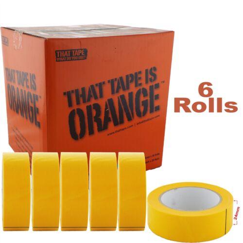 JTape 1125.2450 24mm x 50m 100�C Water-Proof Orange Fine Line Masking Tape x6