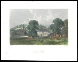 1850-Original-Antique-Print-SURREY-WONERSH-PARK-Guildford-GC3-28