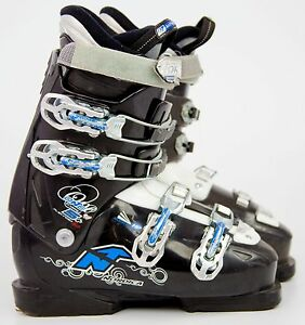 Cute-200-Womens-Nordica-Easy-One-5-Ski-Boots-Ladies-Black-Light-Blue-All-Sizes