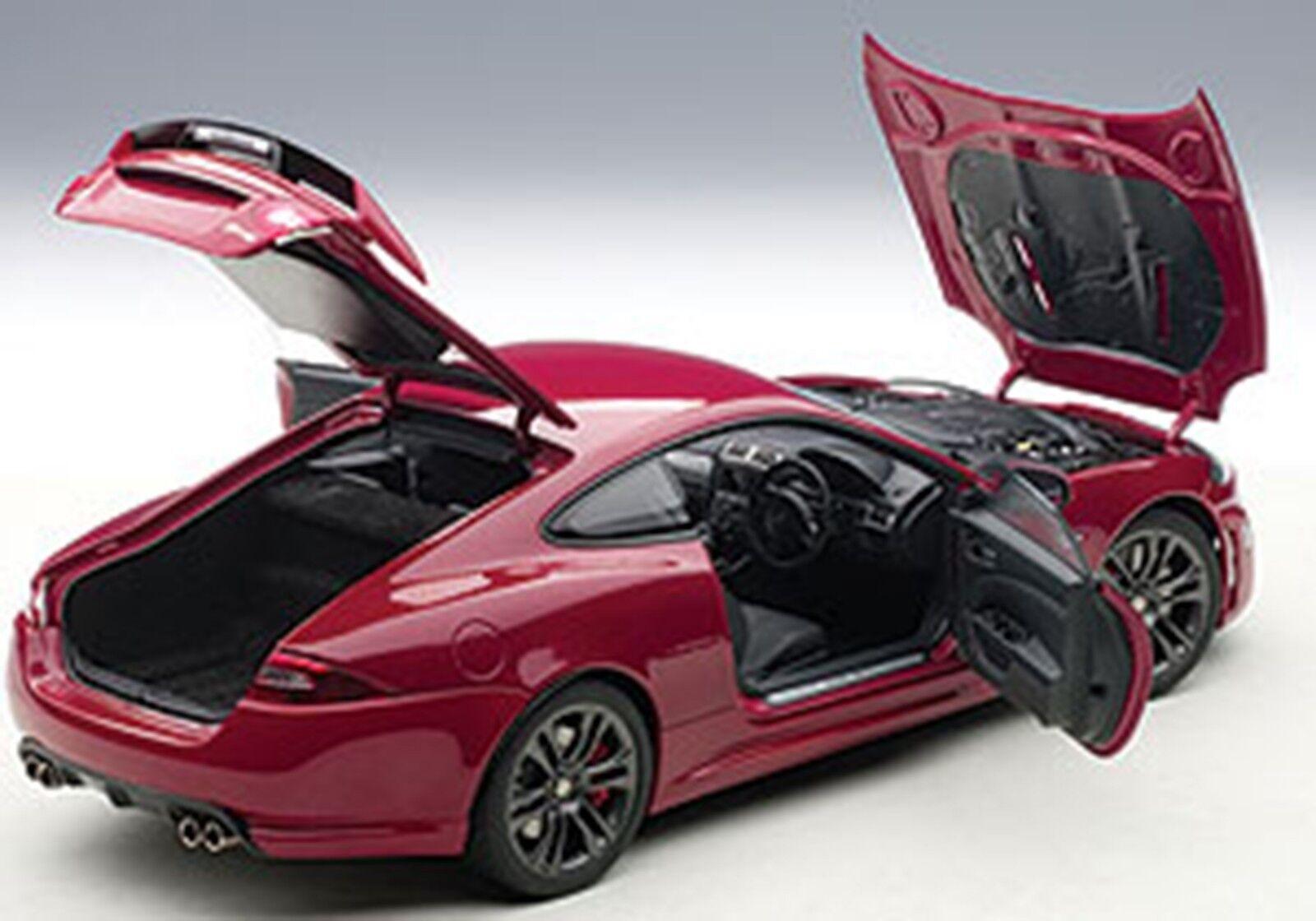 Autoart Jaguar Xkr-s Italiano Racing Coloree rosso En Escala 1 18. ¡ Nuevo en Stock