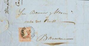 Spanien Cataluña. Geschichte Postal. Umschlag 48. 1859. 4 / Rojo. Montblanch Bis