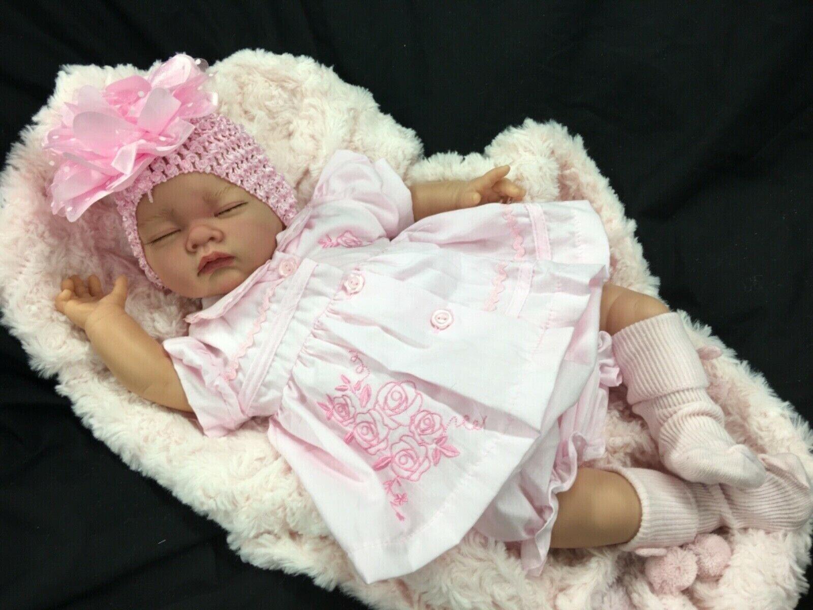 BELLISSIMO neonato RINATO BABY GIRL SPAGNOLO rosadodo Abito P S