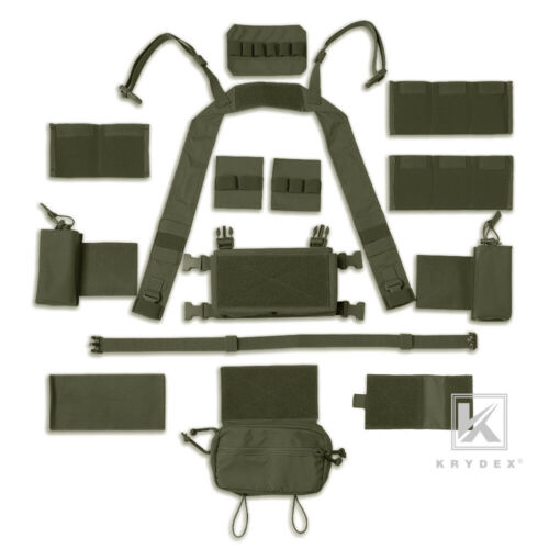 KRYDEX MK3 MK4 Micro Fight Chest Rig Chassis Tactical Carrier Ranger Green