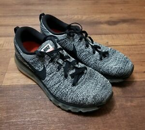 Details about NIKE FLYKNIT AIR MAX MEN'S RUNNING SHOES OREO US 11 BLACK WHITE 620469 105