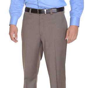 Classique Klein Plat Costume Pantalon Brun Lavable De Taupe Devant Coupe Calvin xFwBq