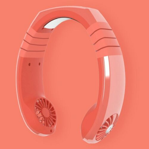 1PC Portable USB Rechargeable Mini Neck Wearable Cooling Air Conditioner Fan