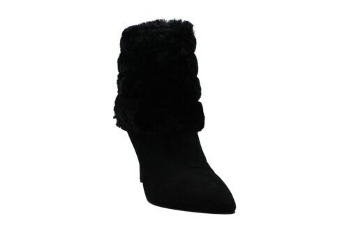 Thalia Sodi Womens Rylie2 Faux Fur Pointed Toe Ankle Fashion Boots