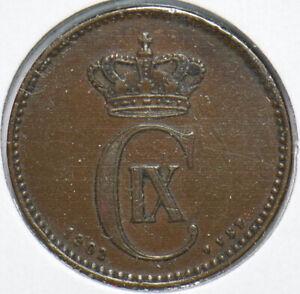 Denmark 1902 2 Ore Porpoise animal 192506 combine shipping
