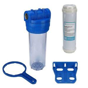 """Brunnen Wasser Filter 10"""" Gehäuse mit 3/4"""" IG, Garten, Pool, mit Eisenfilter"""
