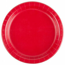 """Red 24 Plates 6 7//8/"""" Paper Dessert Plates Wax Coated"""
