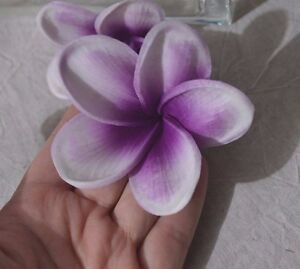 Orange Plumerias Cake Toppers Real Touch Flower Blooms Silk Wedding Decorations