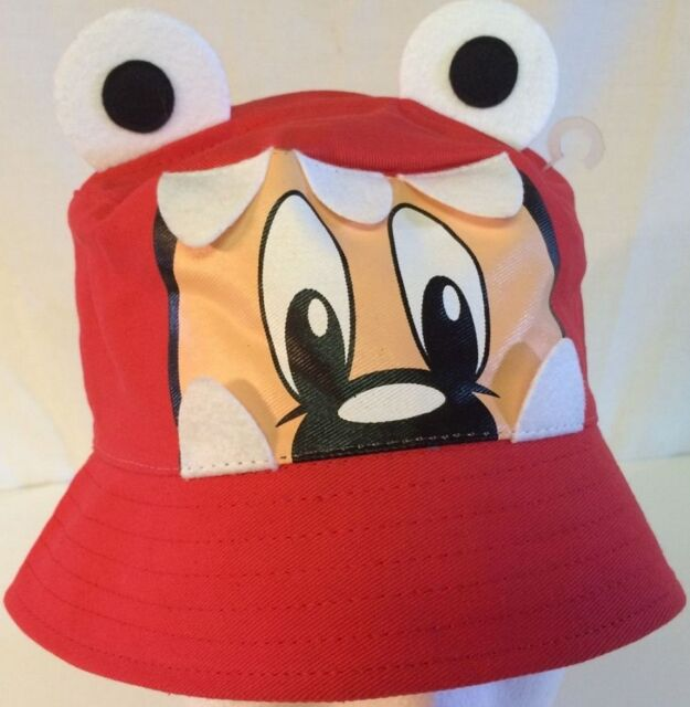 Disney Parks Mickey Mouse Monster Bucket Hat in Red Youth Boy s or ... 625d29ed2af