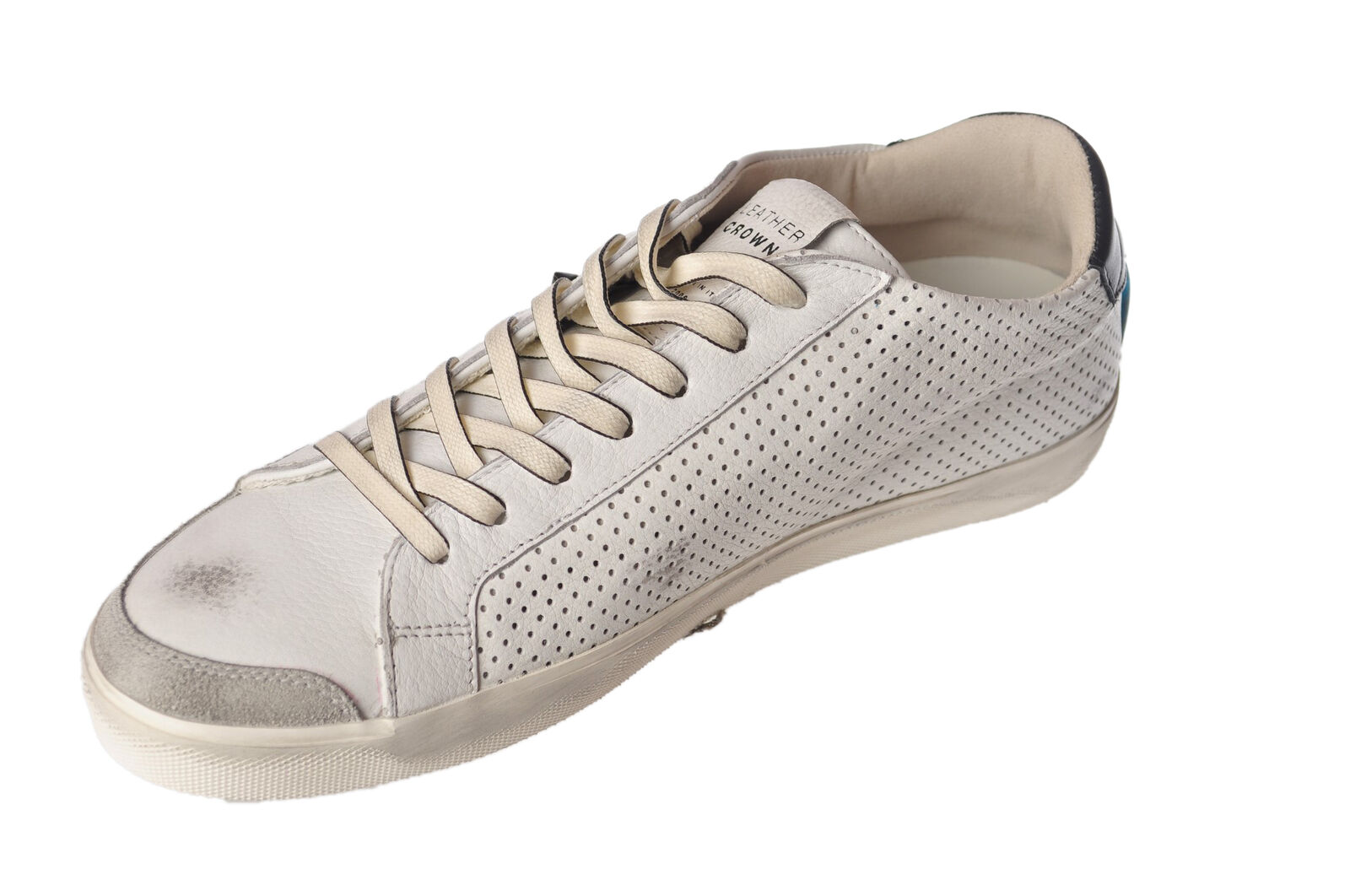 Scarpe casual da uomo  Leather Crown - Shoes-Sneakers low - Man - White - 4751722B182833