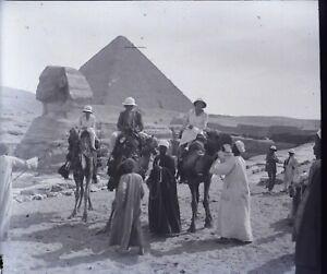 EGYPTE-Le-Caire-Pyramides-Sphinx-Gizeh-Archeologie-NEGATIF-Photo-Plaque-Verre-PL